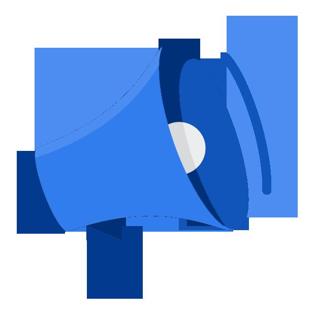 Mobiliser : icone mégaphone