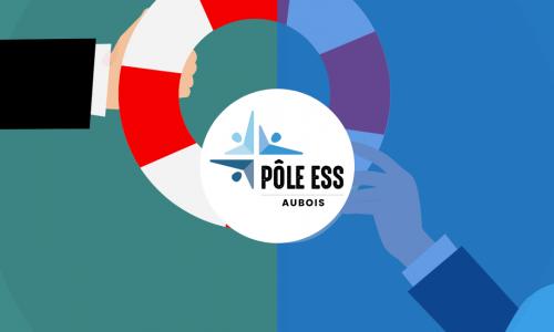 Bouée de sauvetage logo du pôle aubois de l'ess